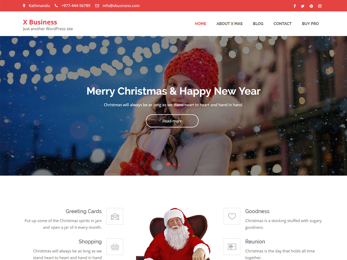 X Business Preview Wordpress Theme - Rating, Reviews, Preview, Demo & Download