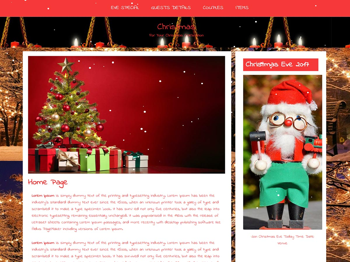 X Mas Preview Wordpress Theme - Rating, Reviews, Preview, Demo & Download