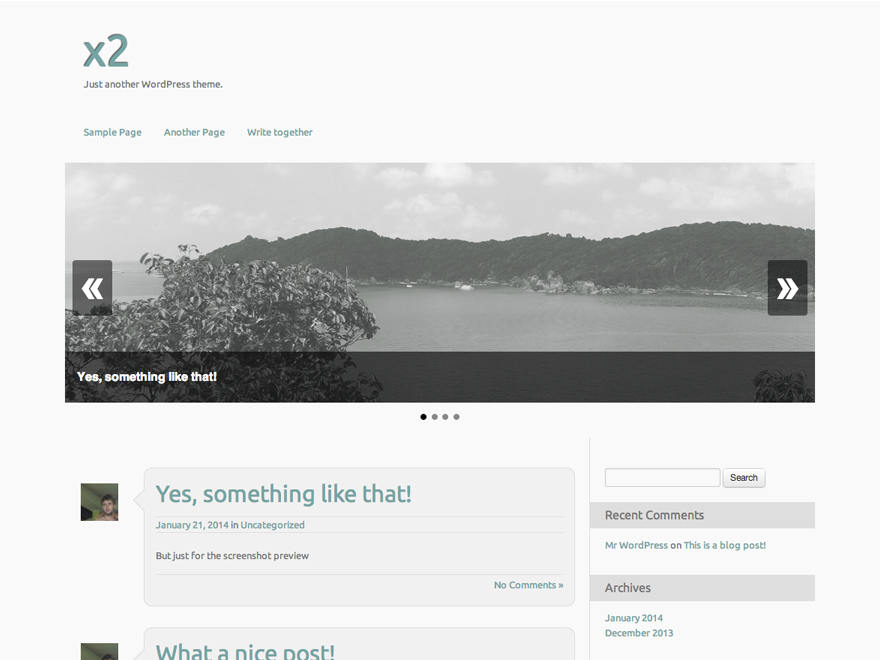 X2 Preview Wordpress Theme - Rating, Reviews, Preview, Demo & Download