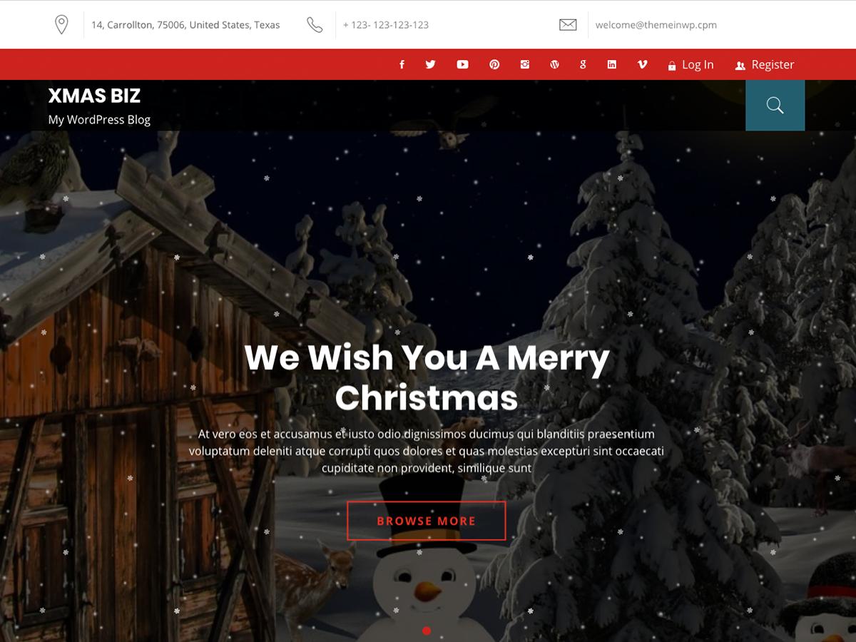 Xmas Biz Preview Wordpress Theme - Rating, Reviews, Preview, Demo & Download
