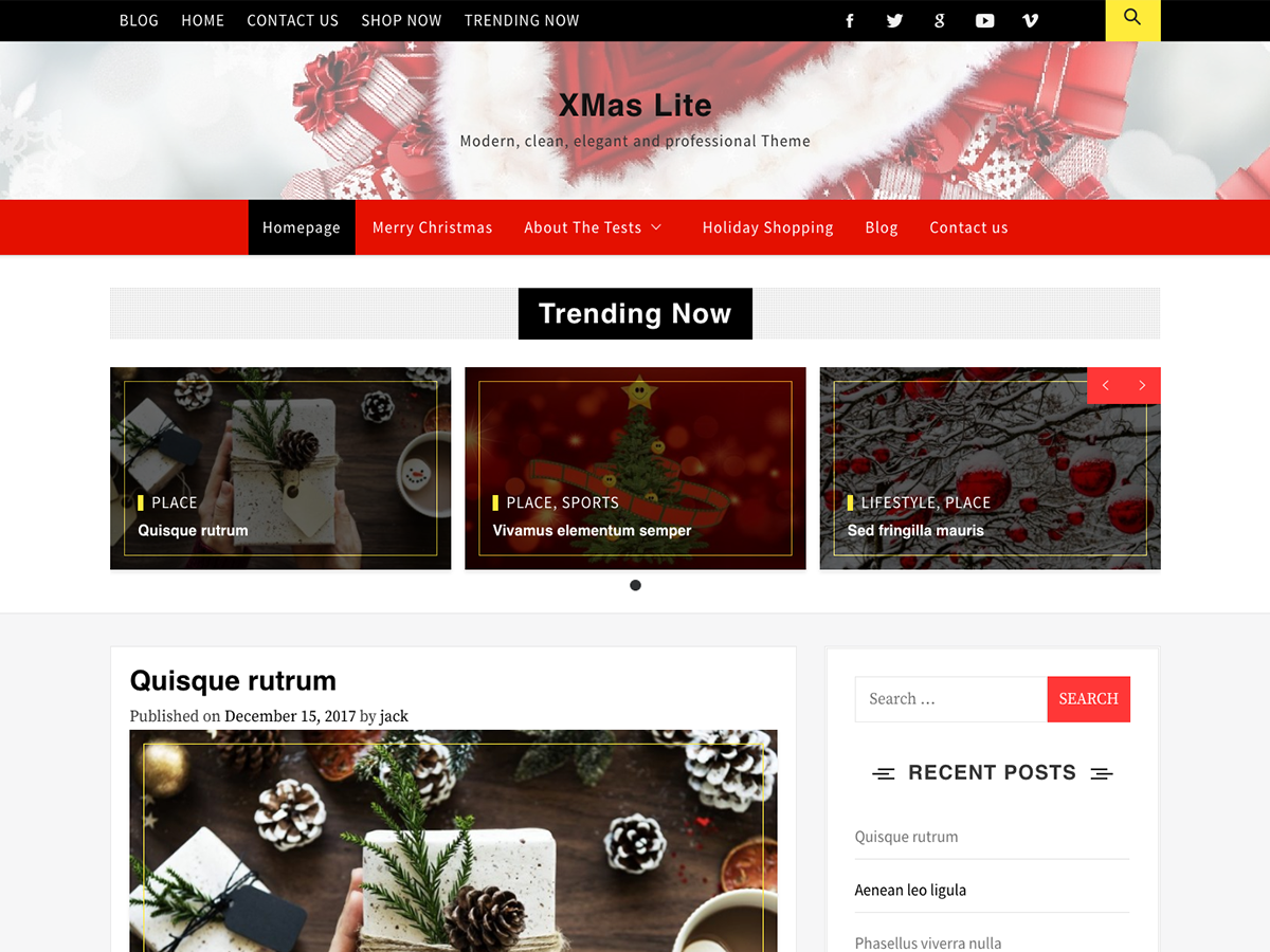 Xmas Lite Preview Wordpress Theme - Rating, Reviews, Preview, Demo & Download