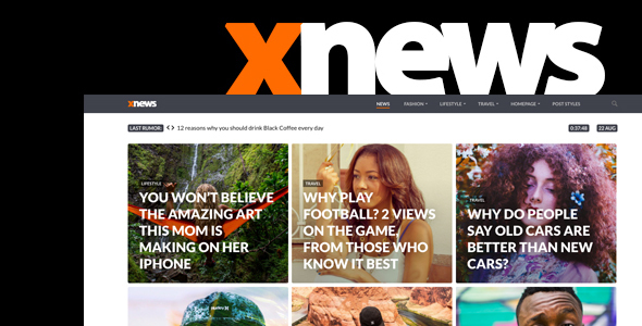 Xnews Preview Wordpress Theme - Rating, Reviews, Preview, Demo & Download