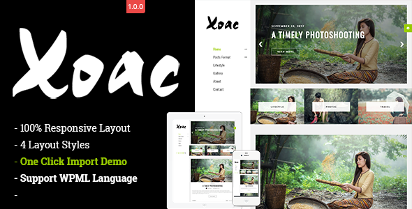 Xoac Preview Wordpress Theme - Rating, Reviews, Preview, Demo & Download