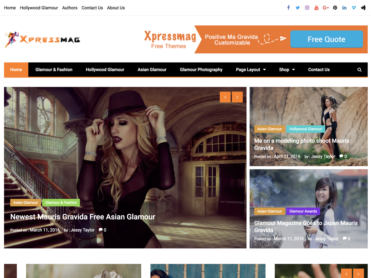 Xpressmag Preview Wordpress Theme - Rating, Reviews, Preview, Demo & Download