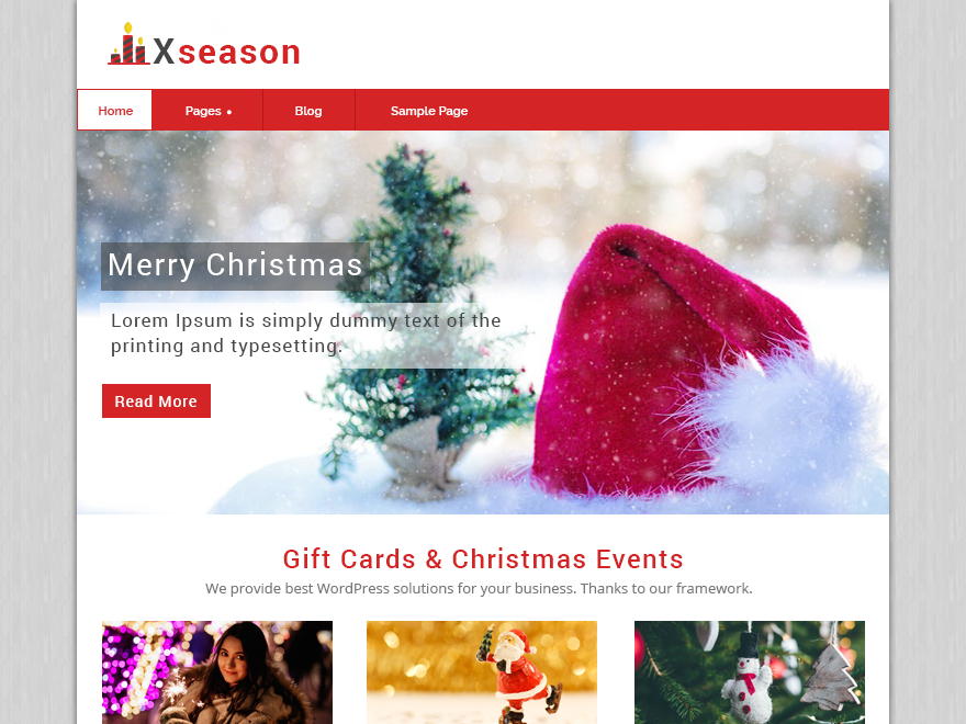 Xseason Preview Wordpress Theme - Rating, Reviews, Preview, Demo & Download