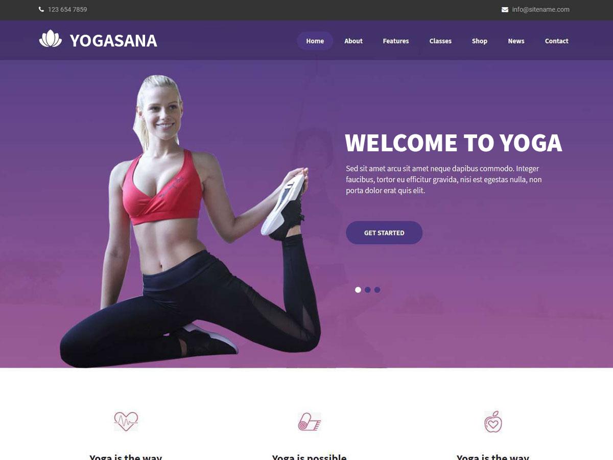 Yogasana Lite Preview Wordpress Theme - Rating, Reviews, Preview, Demo & Download