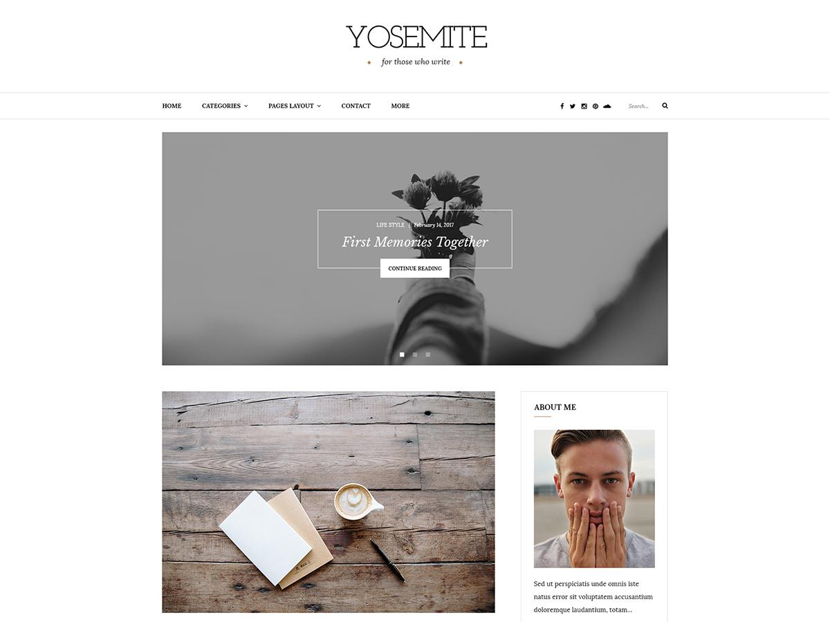 Yosemite Lite Preview Wordpress Theme - Rating, Reviews, Preview, Demo & Download