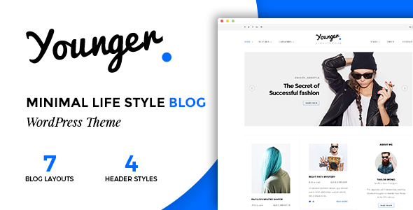 Younger Blogger Preview Wordpress Theme - Rating, Reviews, Preview, Demo & Download