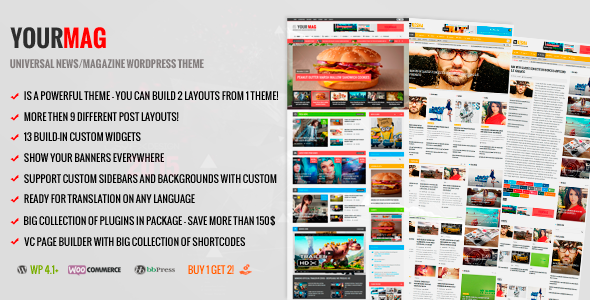 YourMag Preview Wordpress Theme - Rating, Reviews, Preview, Demo & Download