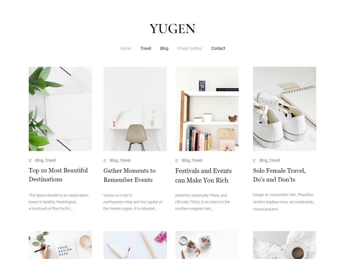 Yugen Preview Wordpress Theme - Rating, Reviews, Preview, Demo & Download