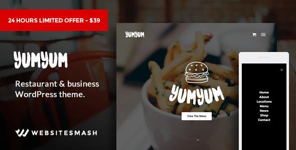 YumYum Preview Wordpress Theme - Rating, Reviews, Preview, Demo & Download