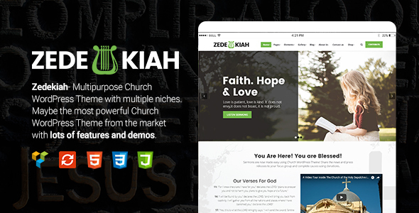 Zedekiah Preview Wordpress Theme - Rating, Reviews, Preview, Demo & Download