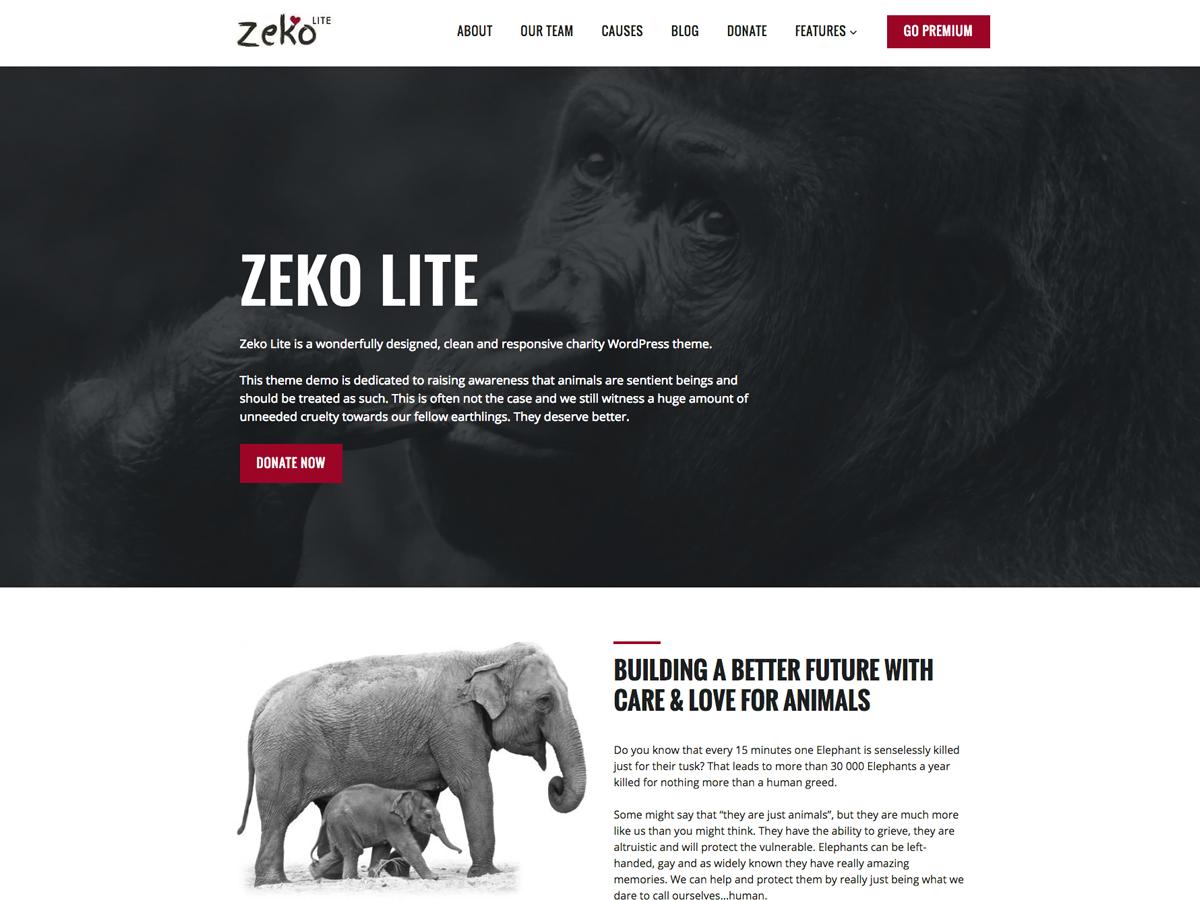 Zeko Lite Preview Wordpress Theme - Rating, Reviews, Preview, Demo & Download