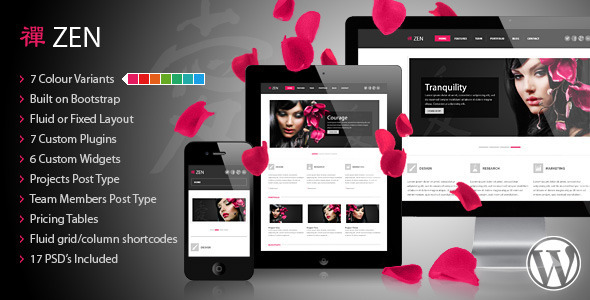 ZEN Responsive Preview Wordpress Theme - Rating, Reviews, Preview, Demo & Download