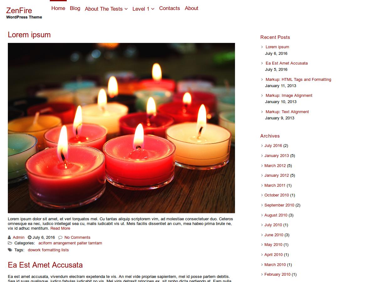 ZenFire Preview Wordpress Theme - Rating, Reviews, Preview, Demo & Download