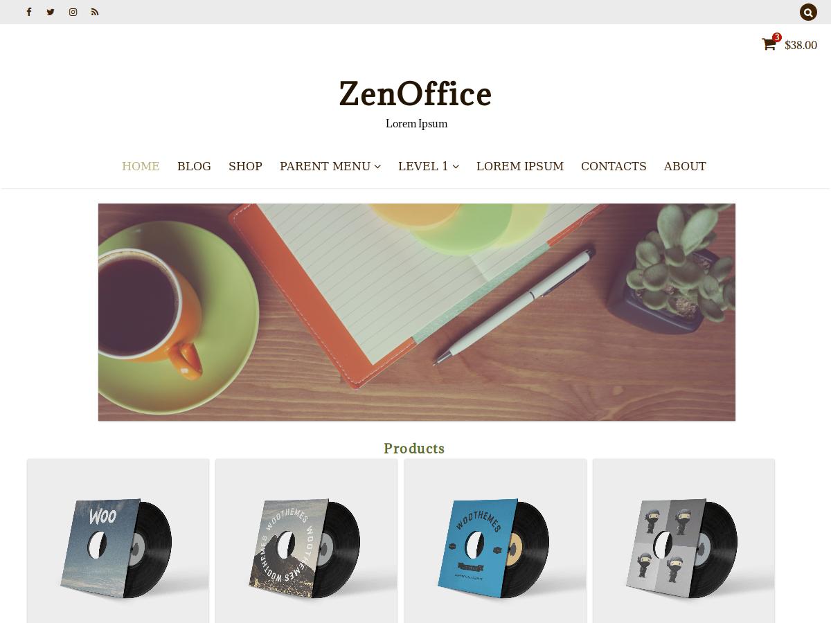 ZenOffice Preview Wordpress Theme - Rating, Reviews, Preview, Demo & Download