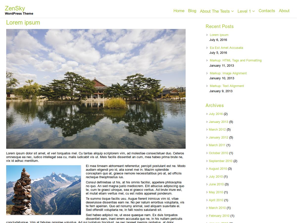 ZenSky Preview Wordpress Theme - Rating, Reviews, Preview, Demo & Download