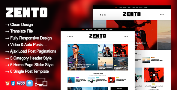 Zento Preview Wordpress Theme - Rating, Reviews, Preview, Demo & Download