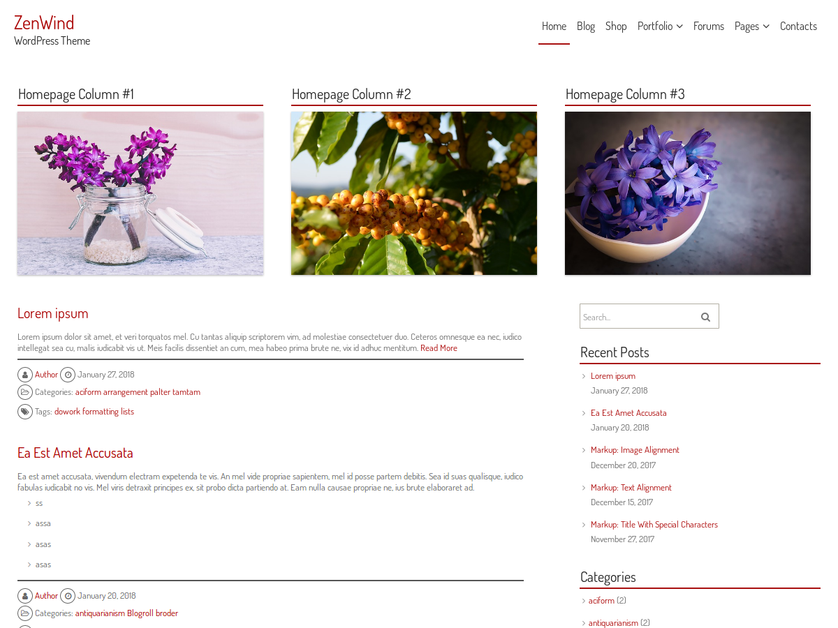 ZenWind Preview Wordpress Theme - Rating, Reviews, Preview, Demo & Download