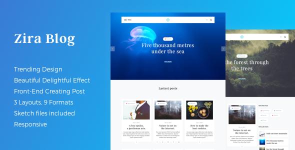 Zira Preview Wordpress Theme - Rating, Reviews, Preview, Demo & Download