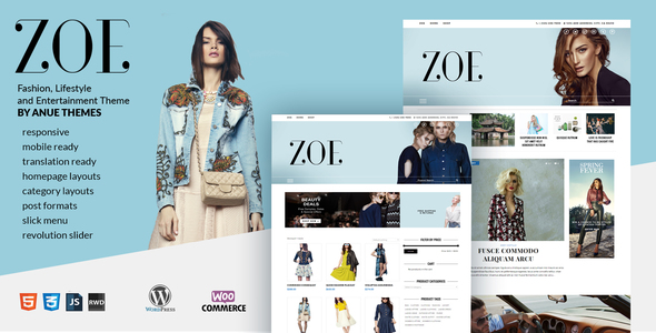 Zoe Preview Wordpress Theme - Rating, Reviews, Preview, Demo & Download