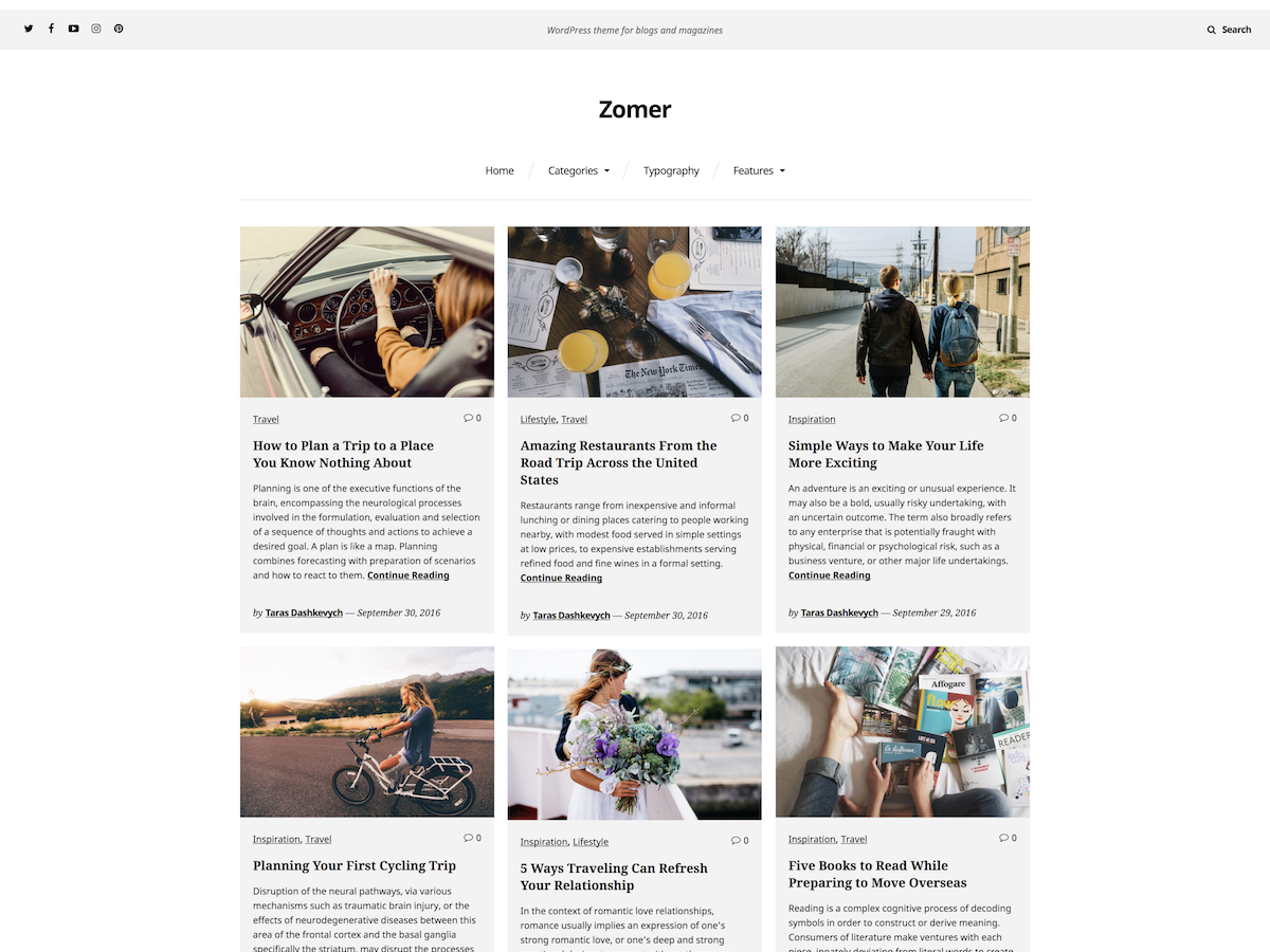 Zomer Preview Wordpress Theme - Rating, Reviews, Preview, Demo & Download