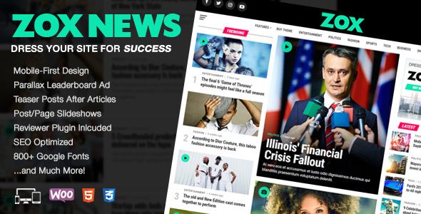 Zox News Preview Wordpress Theme - Rating, Reviews, Preview, Demo & Download