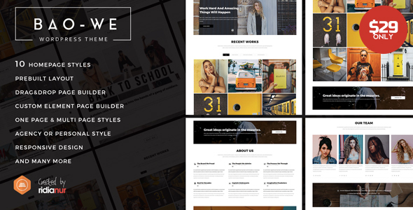 Baowe Preview Wordpress Theme - Rating, Reviews, Preview, Demo & Download