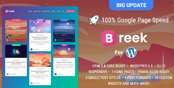 Breek Preview Wordpress Theme - Rating, Reviews, Preview, Demo & Download