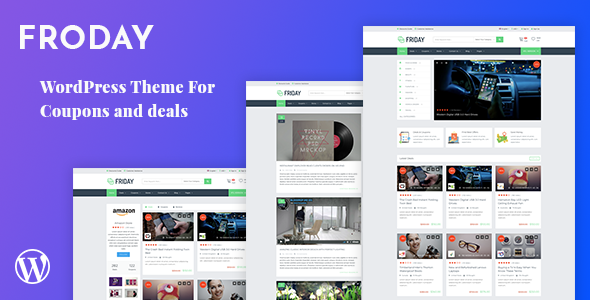 Froday Preview Wordpress Theme - Rating, Reviews, Preview, Demo & Download