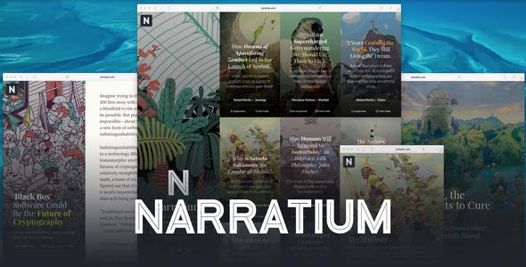Narratium Preview Wordpress Theme - Rating, Reviews, Preview, Demo & Download