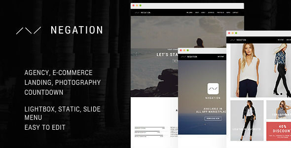 Negation Preview Wordpress Theme - Rating, Reviews, Preview, Demo & Download