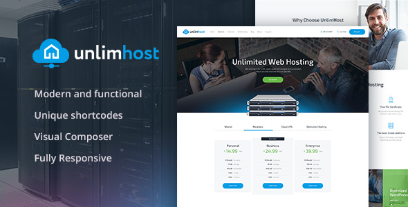 UnlimHost Preview Wordpress Theme - Rating, Reviews, Preview, Demo & Download